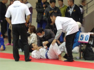 浜松市ブラジリアン柔術の大会 救護班