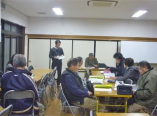 磐田市内 地域の老人会にて 交通安全運動の紹介